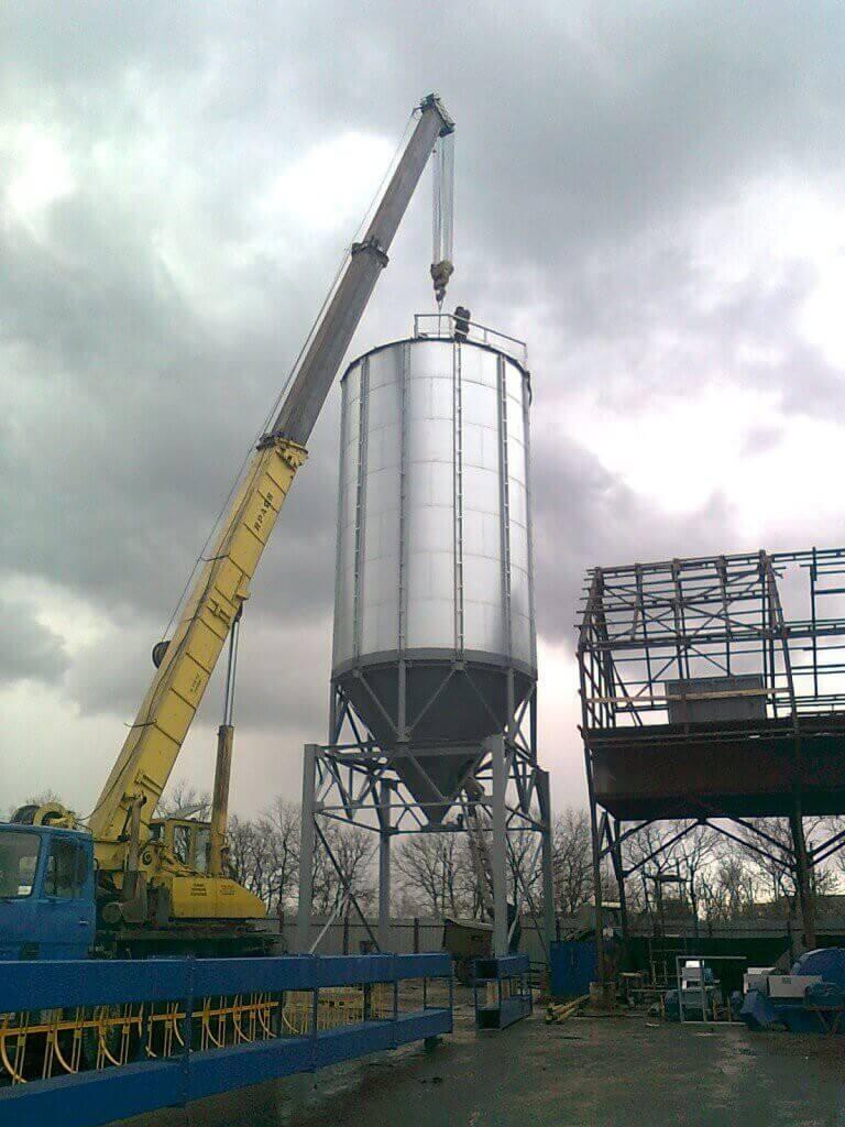 конусное зернохранилище с проездом Харьков